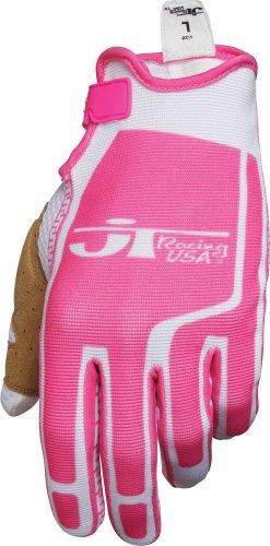 JT Racing USA Flex-Feel Gloves PinkWhite X-large