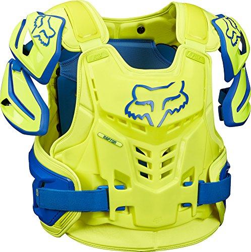 Fox Racing Raptor Vest Mens Roost Deflector Motocross Motorcycle Body Armor - BlueYellow  SmallMedium