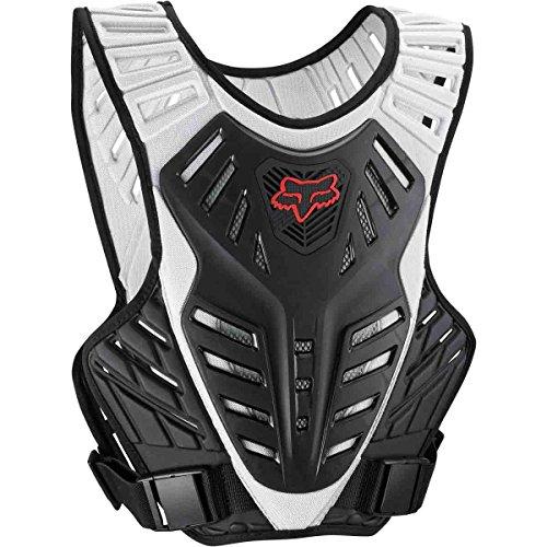 Fox Racing Titan Race Subframe Mens Roost Deflector Motocross Motorcycle Body Armor - BlackSilver  MediumLarge