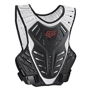 Fox Racing Titan Race Subframe Mens Roost Deflector Motocross Motorcycle Body Armor - BlackSilver  SmallMedium
