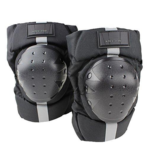 AB Crew 1 Pair Warm Motorcycle Knee Pads Windproof Motocross Knee Guards Adjustable Elastic Strap Knee Armor Pads