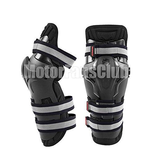 MotorFansClub Motorcycle Racing Adult Knee Shin K19 Armor Protector Guards Pads
