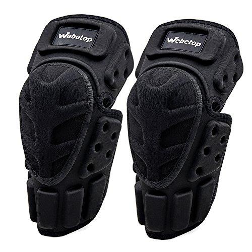 Webetop Motorcycle Knee Pads Adult 1 Pair High-Impact Shield-Resistance Flexible Breathable Adjustable Aramid Fiber EVA Motocross MTB Shin Guards for Riding Cycling Skating