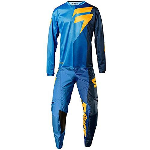Shift MX - White Label Tarmac Blue Jersey Pant Combo - Size LARGE 34W