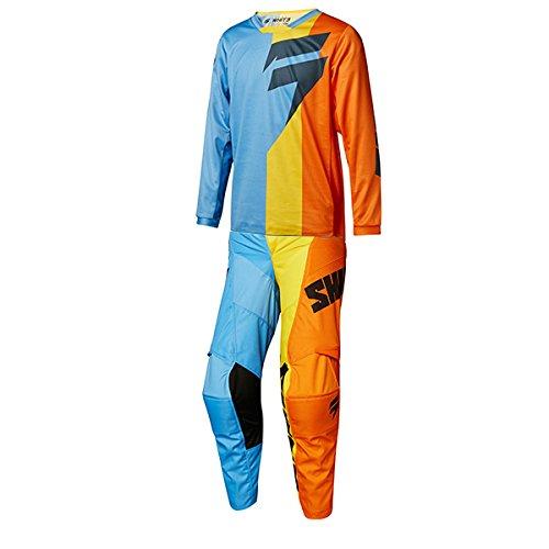 Shift MX - White Label Tarmac Orange Blue Youth Jersey Pant Combo - Size Y-XLARGE 28W