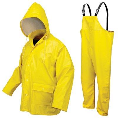 2X Yel Navigator 40 mm Polyurethane Polyester 2 Piece Rain Suit
