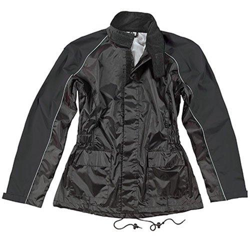 Joe Rocket RS-2 Womens 2-Piece Rain Suit Black MD