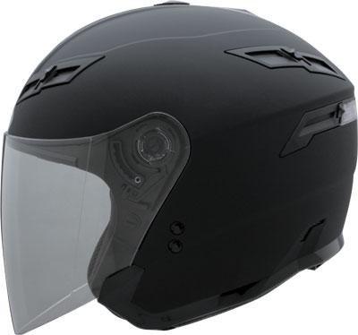 Gmax Gm67 Flat Black Open Face Helmet - Large