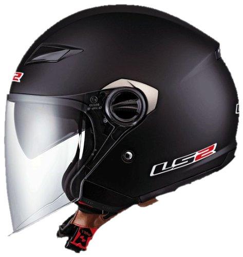 Ls2 Helmets Of569 Open Face Motorcycle Helmet (solid Matte Black, Large)