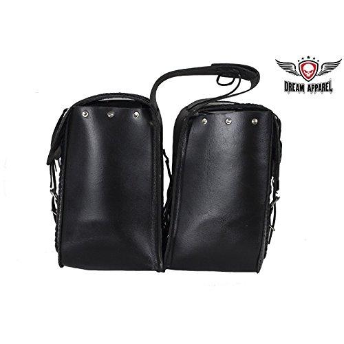 Waterproof Leather Motorcycle Saddlebag