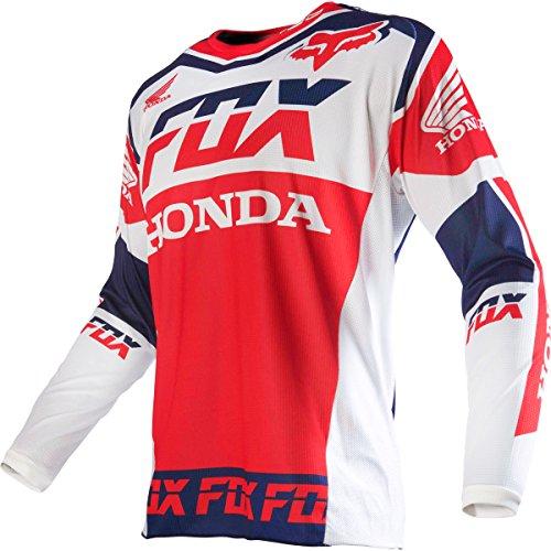 Fox Racing 180 Honda Mens Dirt Bike Motorcycle Jerseys - White  Small