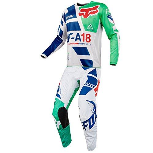 Fox Racing 180 Sayak Green Jersey Pant Combo - Size LARGE 34W