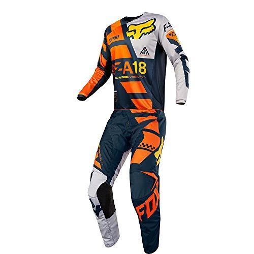 Fox Racing 180 Sayak Orange Jersey Pant Youth Combo - Size Y-MEDIUM 26W