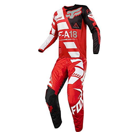 Fox Racing 180 Sayak Red Jersey Pant Combo - Size MEDIUM 32W