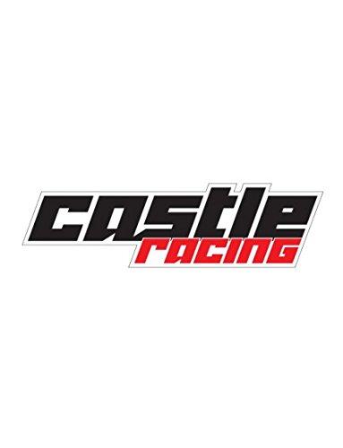 Castle X Racewear Racing Decal BlackRed 25 Inch