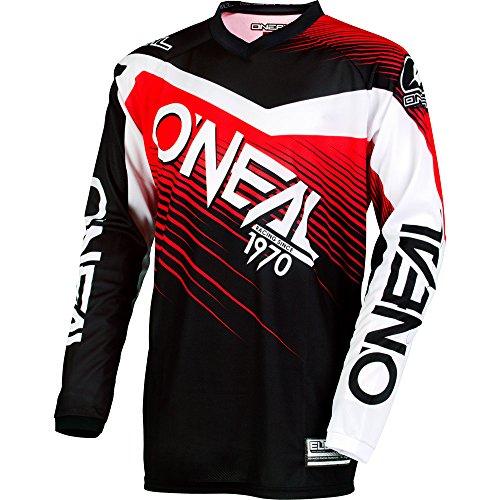 ONeal Mens Element Racewear Jersey BlackRed Medium