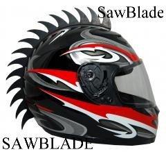 Black Motorcycle Dirtbike Bmx Skate Rubber Helmet Mohawk Peel And Stick Spikes ( Helmet Not Included ) Cut Spike