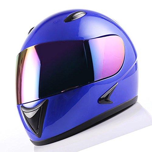 1Storm Motorcycle Street Bike BMX MX Youth Kids Full Face Helmet Glossy Blue