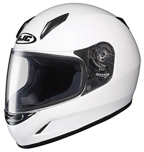 HJC CL-Y Kids Youth Solid White Full Face Motorcycle Helmet  L