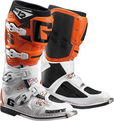 Gaerne SG-12 Boots Distinct Name WhiteOrange Gender MensUnisex Size 14 Primary Color Orange 2174-018-014