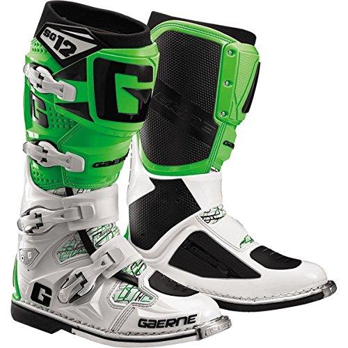 Gaerne SG-12 Boots Primary Color Green Size 10 Distinct Name Green Gender MensUnisex 2174-020-10