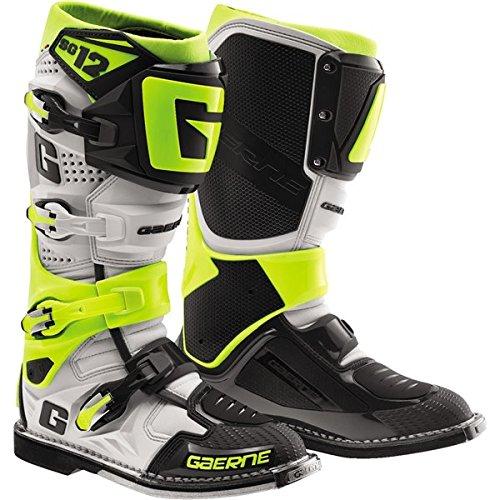 Gaerne SG-12 Boots Primary Color White Size 10 Distinct Name WhiteRedBlue Gender MensUnisex 2174-026-10