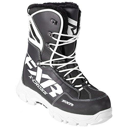 FXR X Cross Black  White Boots Unisex Mens 9 Womens 11