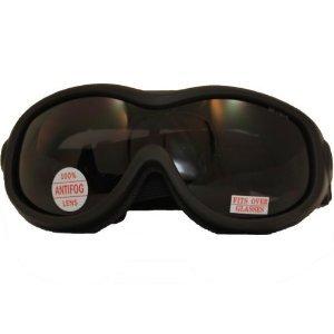 ATV Goggles Over Glasses Goggles ANSI Z871 Antifog Open Cell Foam Smoke