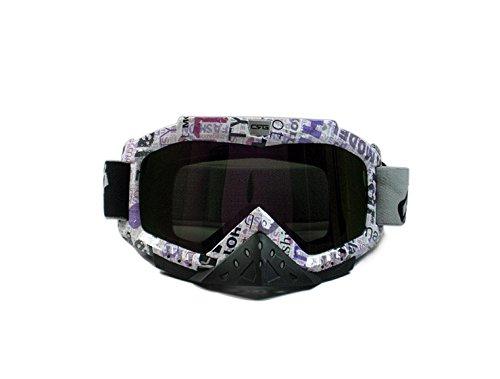 CRG Sports Motocross ATV Dirt Bike Off Road Racing Goggles T815-25-1A T815-25-1A - Parent Multi-color lens purple letter frame