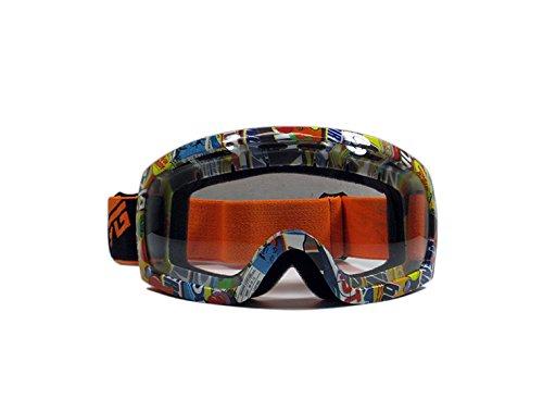 CRG Sports Motocross ATV Dirt Bike Off Road Racing Goggles T815-27-1A T815-27-1A - Parent Transparent lens orange frame