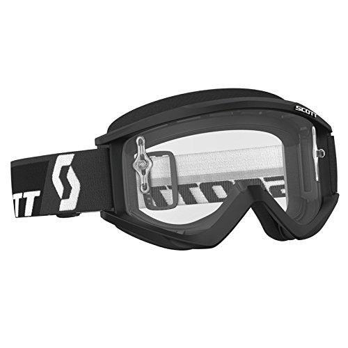 SCOTT Recoil XI Adult Motocross MX UTV ATV Goggle Black Anti-Fog Clear Lens