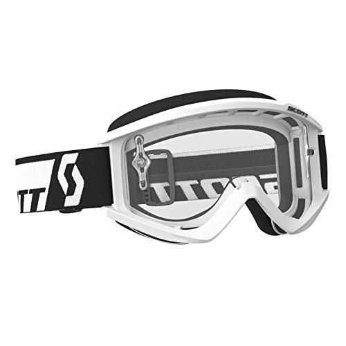 SCOTT Recoil XI Adult Motocross MX UTV ATV Goggle White Anti-Fog Clear Lens