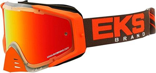 EKS Brand EKS-S Outrigger Adult Dirt Bike Motorcycle Goggles Eyewear - ClearFlo OrangeSmoke One Size Fits All
