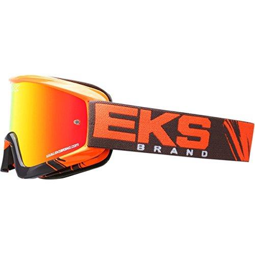 EKS Brand GO-X Fade Volcano Adult Dirt Bike Motorcycle Goggles Eyewear - Flo OrangeGreyOne Size Fits All