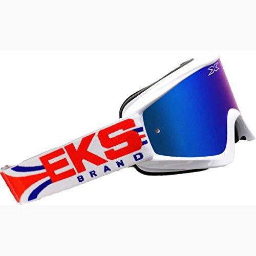 EKS Brand GO-X Limited X Adult Dirt Bike Motorcycle Goggles Eyewear - RedWhiteBlue  One Size Fits All
