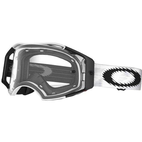 Oakley Airbrake MX Speed Adult MXOff-RoadDirt Bike Motorcycle Goggles Eyewear - Matte WhiteClear  One Size Fits All