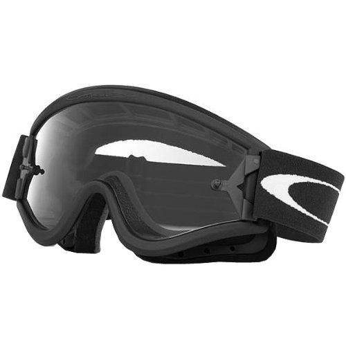 Oakley MX L Frame Adult Dirt Off-RoadDirt Bike Motorcycle Goggles Eyewear - BlackClear  One Size Fits All
