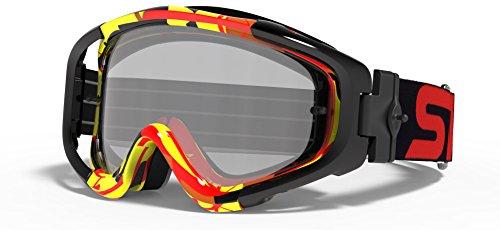 SWANS Swans Dirt goggles MX-TALON-M Frame Red x yellow lens color silver mirror x Smoke L-TLN-M