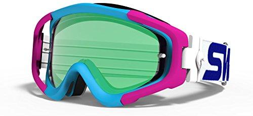 SWANS Swans Dirt goggles MX-TALON-M frame color blue x Pink lens color flash emerald mirror x Smoke L-TLN-M