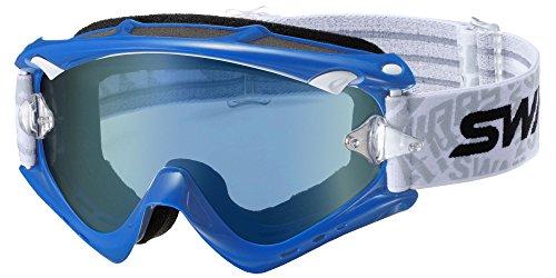 SWANS Swans Dirt goggles RUSH-BA-II M Frame blue lens color flash blue mirror x Smoke RUSH BA
