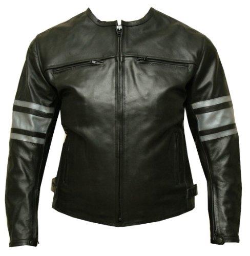 Leather Jacket Motorcycle Armor Ladies Black Gm Xxl