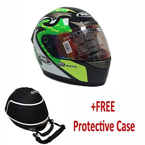 Premium Shiro Carbon Fiber Adult Full Face Helmet Motogp Replica Dot/ece (+free Care Case) Xx-large
