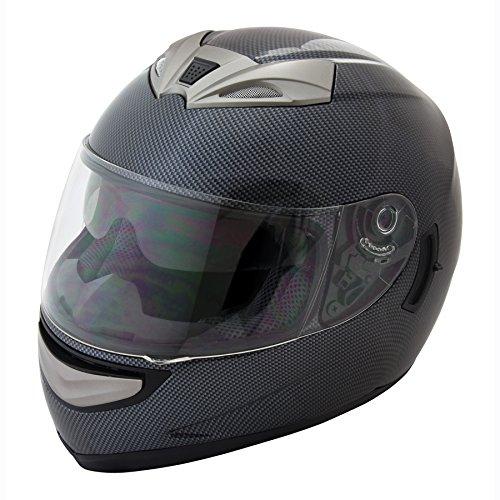 Raider Graphite X Full Face Helmet (carbon Fiber Graphic, Large)