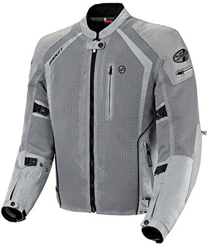 Joe Rocket Mens Phoenix Ion Mesh Motorcycle Jacket Silver Medium