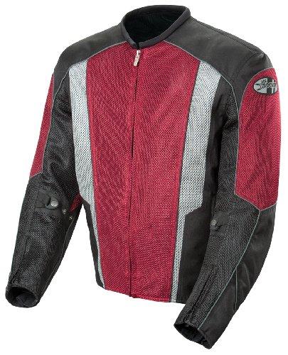 Joe Rocket Phoenix 5.0 Men's Mesh Motorcycle Riding Jacket (wine/black, Medium)