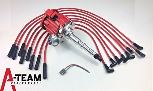 A-Team Performance AMC JEEP 67-90 290 304 343 360 390 401HEI DISTRIBUTOR 65K RED SPARK PLUG WIRES