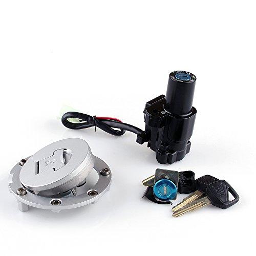 Topteng Motorcycle Ignition Switch Gas Petrol Cap Cover Lock Key Set for Honda CB600 CBF500 CB900 CBF1000 2002-2010