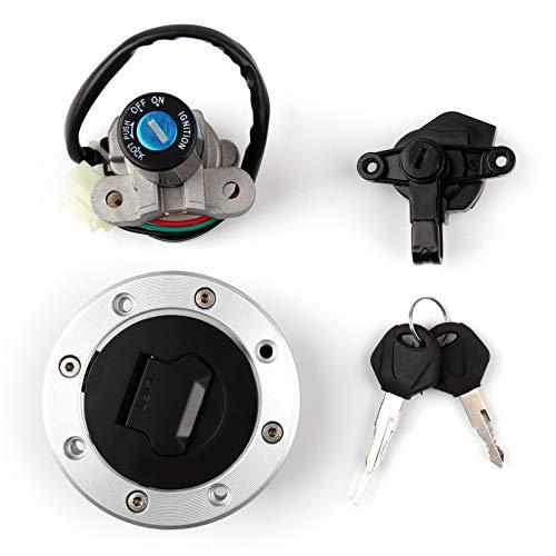 Topteng Motorcycle Ignition Switch Gas Petrol Cap Cover Lock Key Set for Suzuki GSF250 GSF400 GSX400 GSXR400 RF400 RF600 RF900 1989-1999