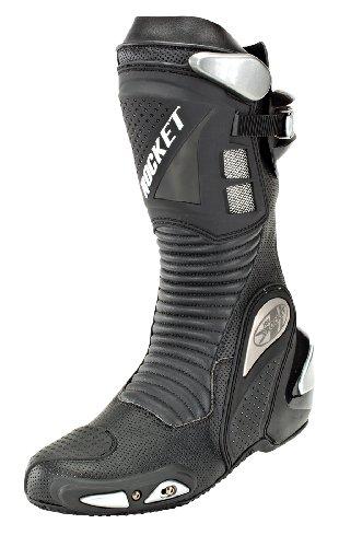 Joe Rocket Speedmaster 3.0 Men's Leather Race Boots (black, Size 9.5)