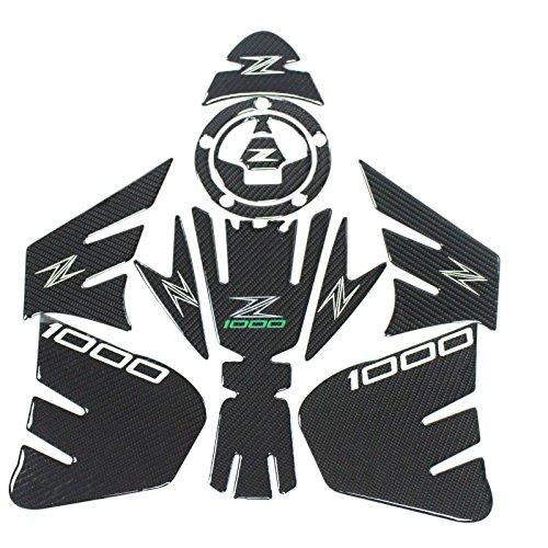 Real Carbon 3D Sticker Decal Emblem Protection Tank Pad Gas Cap For KAWASAKI Z1000 2012-2015
